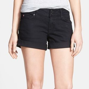 Hudson Croxley Cuffed Black Denim Shorts - 24